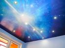 Натяжные потолки и светильники