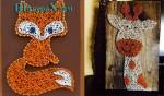 Оригинальное панно из ниток и гвоздей-Шатура